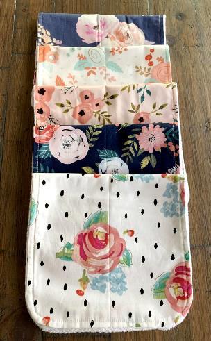 Choose Color - Personalized Floral Burp Cloth