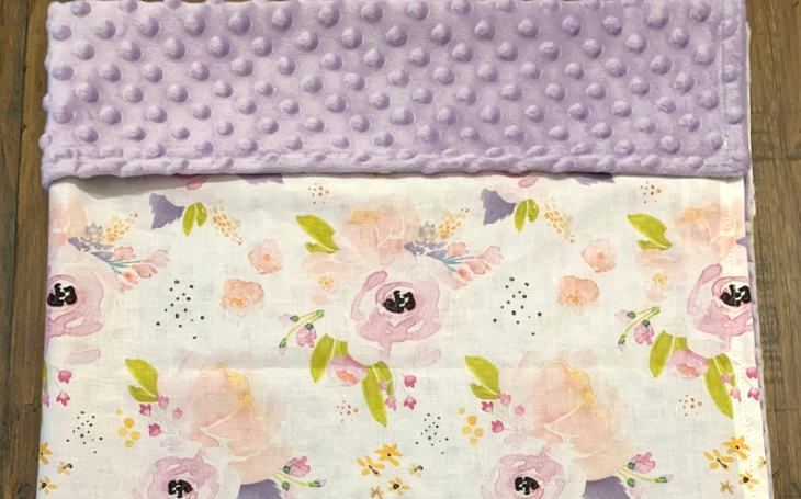 Blooming Lilac Personalized Baby Blanket