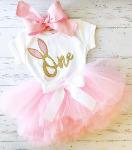 Some Bunny is One First Birthday Tutu Outfit