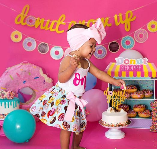 Sprinkle Donuts Birthday Outfit