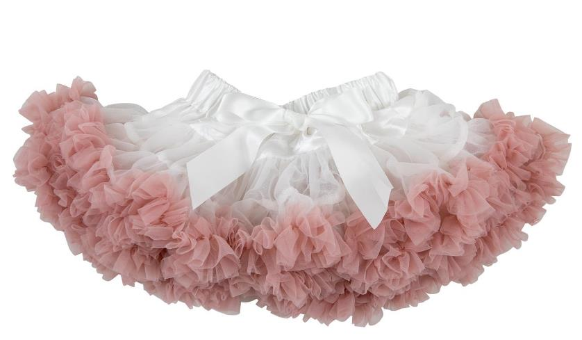 Off White & Vintage Pink Fluffy Baby Pettiskirt