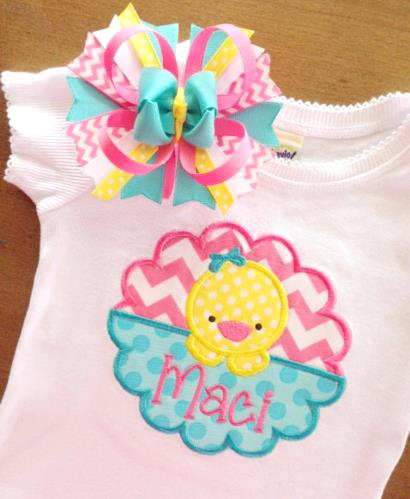 Little Easter Chic Personalized Shirt
