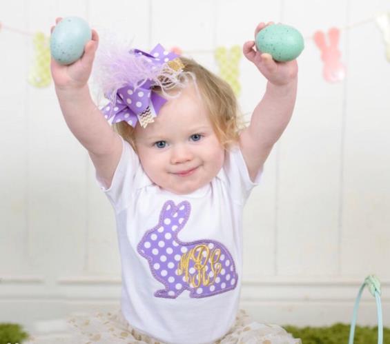 Lavender & Gold Monogram Easter Bodysuit