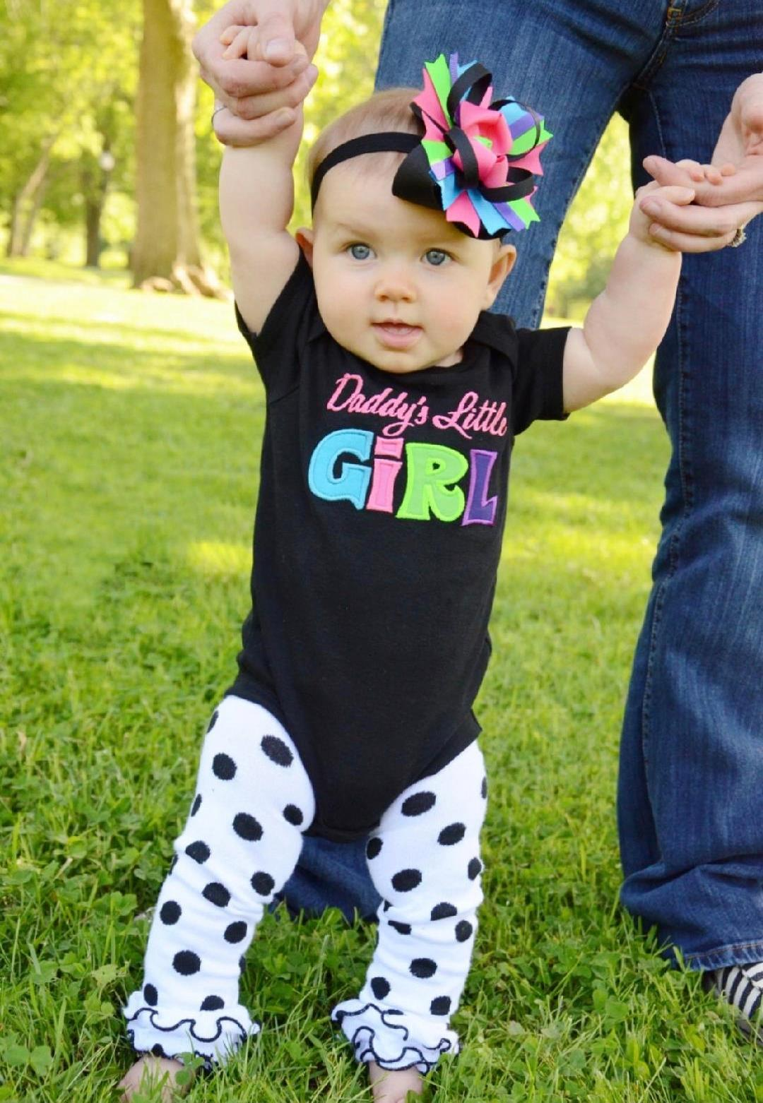Daddy's Little Girl Bright Colored Bodysuit