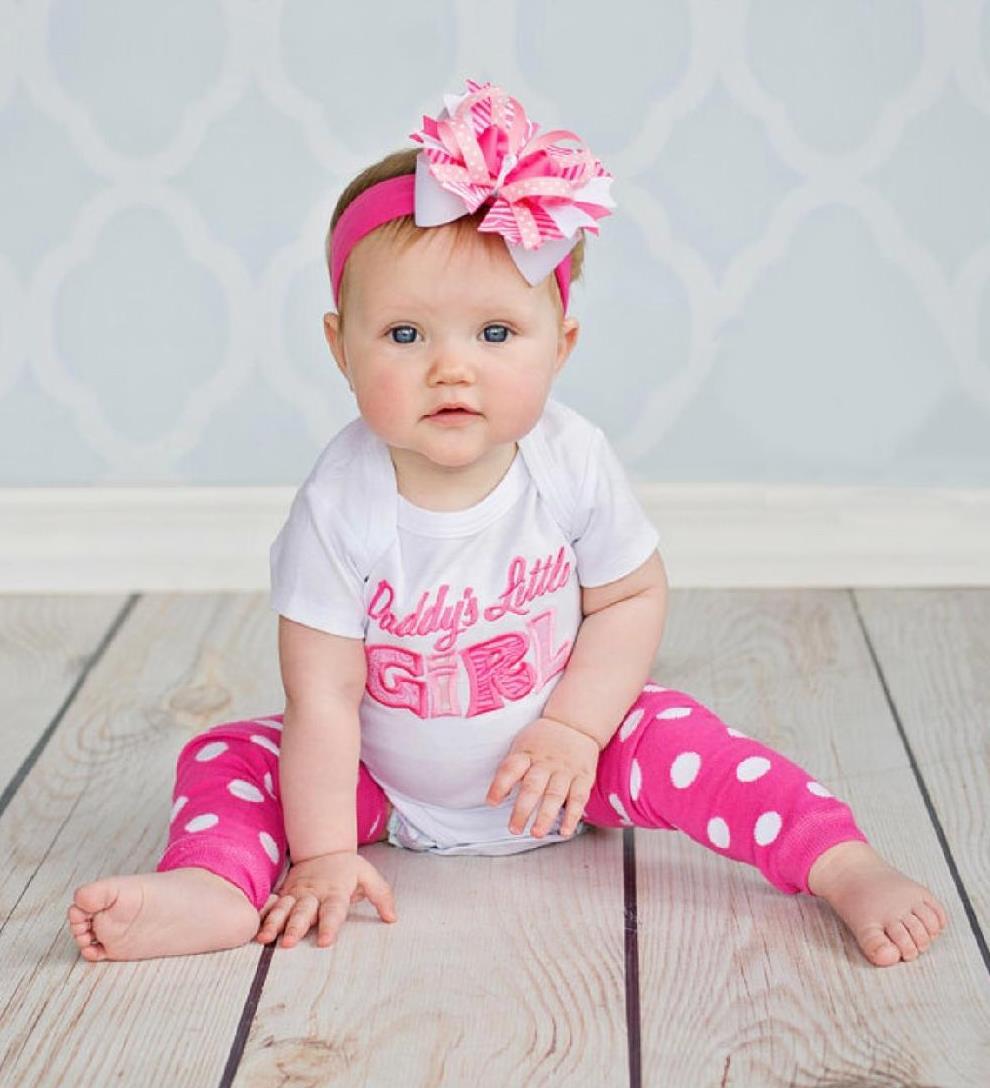 Daddy's Little Girl Hot Pink & White Bodysuit