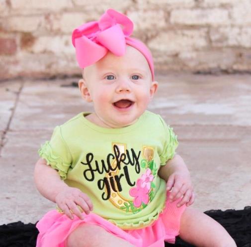 Lucky Girl St. Patrick's Day Ruffle Shirt
