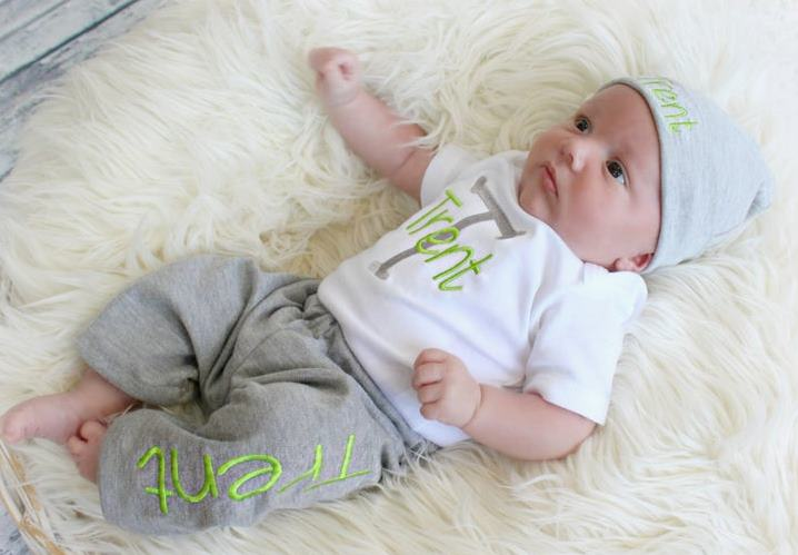 Boys Newborn Personalized Jogger Set