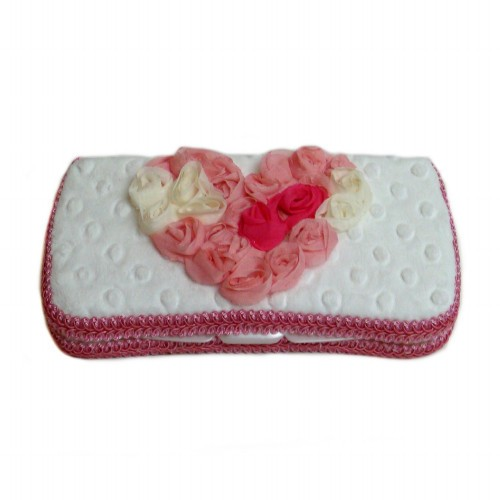 Multi Love White -Travel Wipes Case