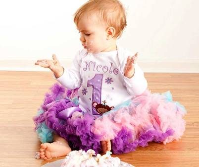 Lil Monkey Pastel Birthday Pettiskirt Outfit Set