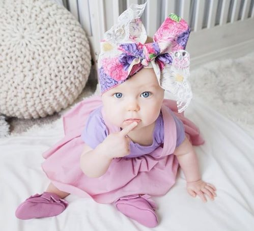 Purple Floral Philomena Lace Headwrap