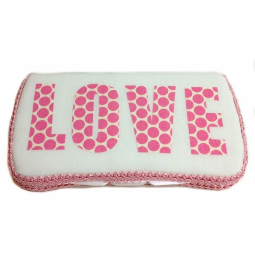 Pink Love Baby Wipes Case