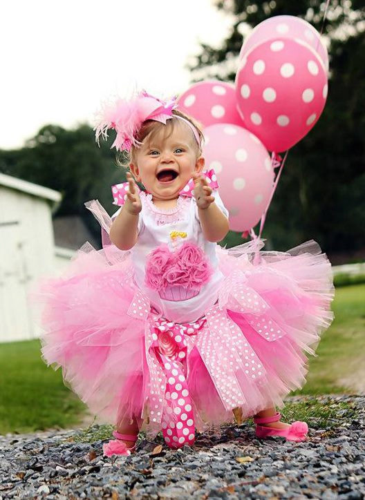 Posh In Pink Cupcake Birthday Tutu Set