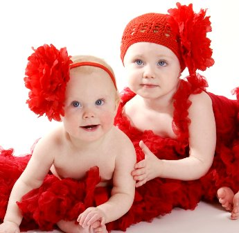 You Choose - Red Flowerband or Crochet Flower Hat