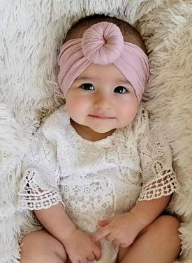 Nylon Round Top Knot Headwrap Headband