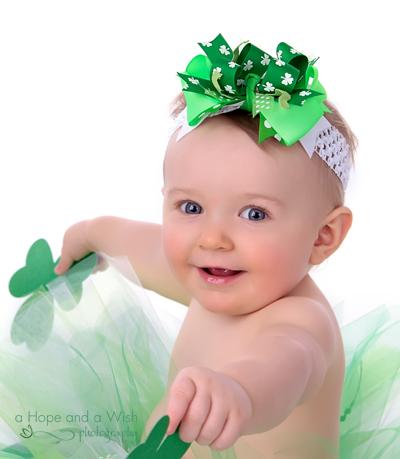 Shamrock Cutie St. Paddy's Day Glamour Baby Headband