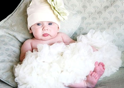 Gentle Cream Newborn Pettiskirt