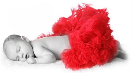 Lovely Red Newborn Pettiskirt