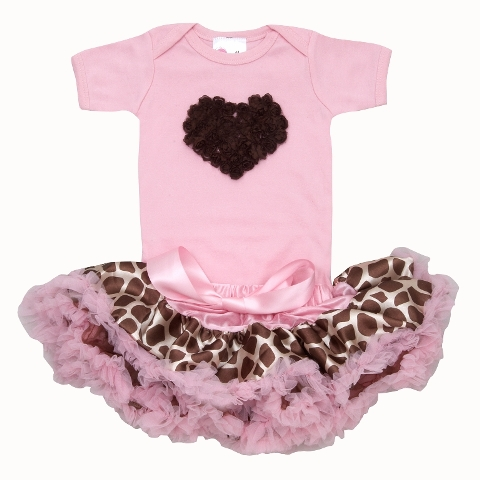 Pink Giraffe Pettiskirt Outfit Set